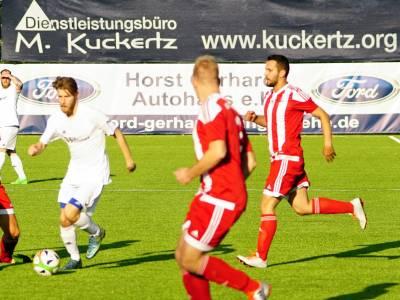 1. Mannschaft holt beim Mit-Aufstiegsfavoriten CfR Buschbell hochverdientes 2:2
